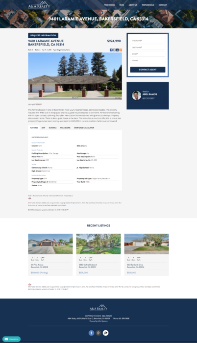 website-design-aandarealty-property-listing