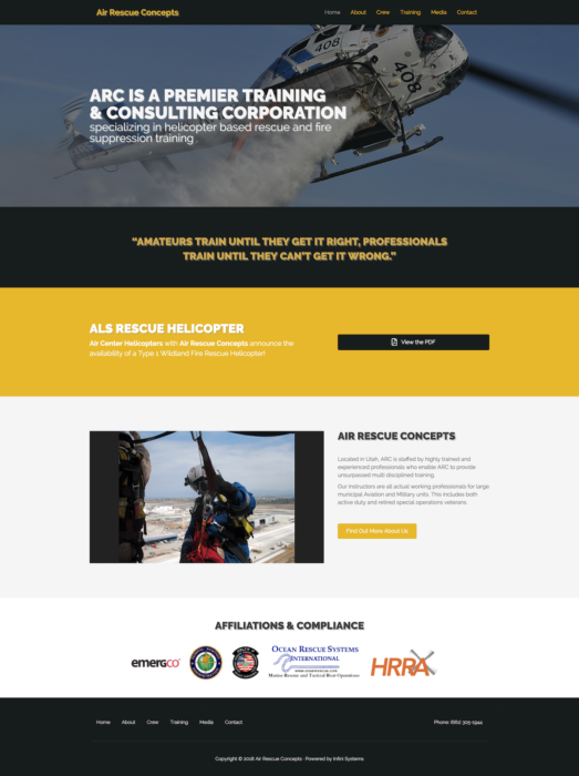 website-design-air-rescue-homepage
