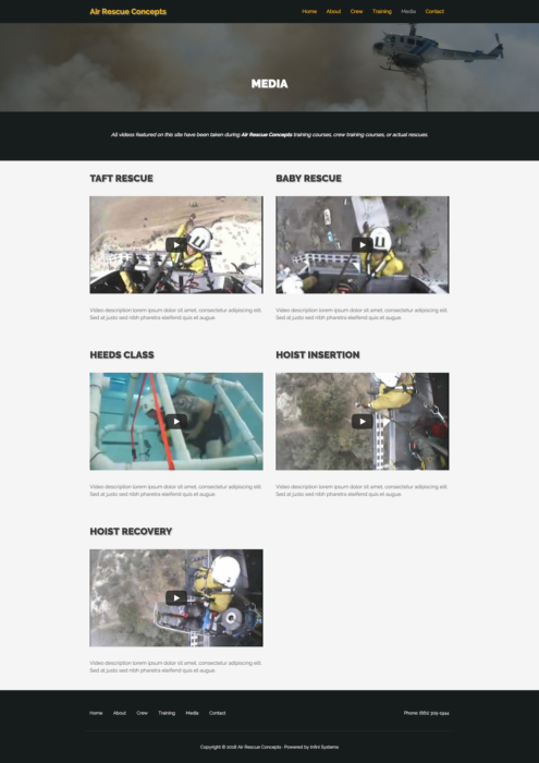 website-design-air-rescue-video