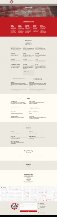 website-design-bonnies-menu