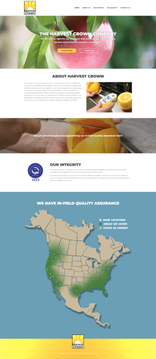 website-design-harvest-homepage