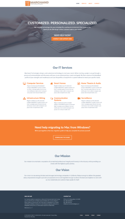 website-design-marchand-homepage