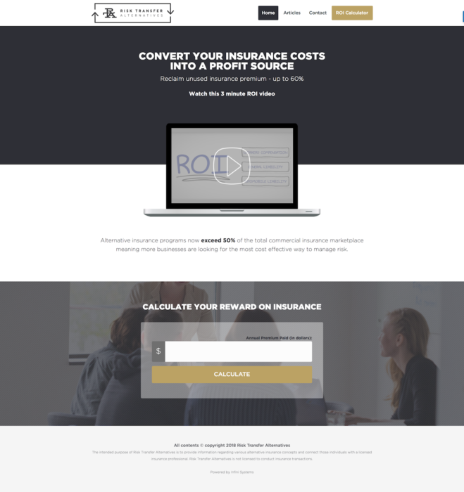 website-design-risktransfer-homepage