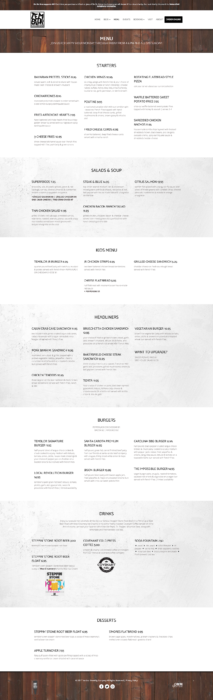 website-design-temblor-menu
